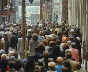Flash-Mob im Jahre 1979